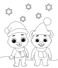Printable Winter-1 Coloring Pages