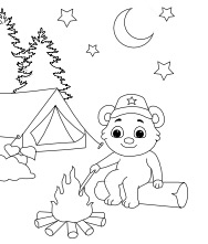 Printable Campfire Coloring Pages