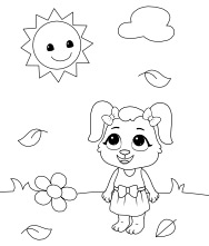 Printable Sun Coloring Pages