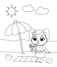 Printable Beach-1 Coloring Pages