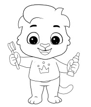 Printable Brushing Coloring Pages