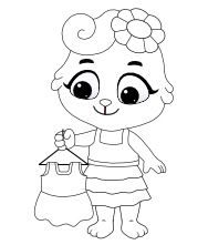 Printable Clothing Coloring Pages