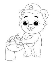 Printable Wash Hand Coloring Pages