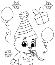 Printable Holiday Fun Coloring Pages