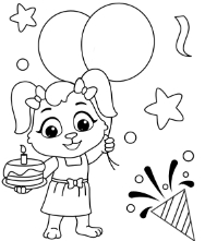 Printable Celebration Coloring Pages