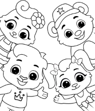 Printable Fun Characters Coloring Pages