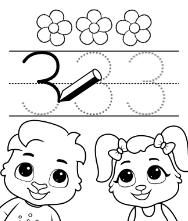 Free Printable Worksheets for Kids - Trace Number Worksheets for kids