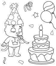 Free Printable Coloring Book for Kids