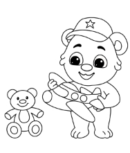 Printable Toys and Games Coloring Pages