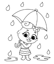 Printable Season and Weather Coloring Pages