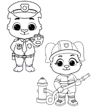 Printable People & Profession Coloring Pages
