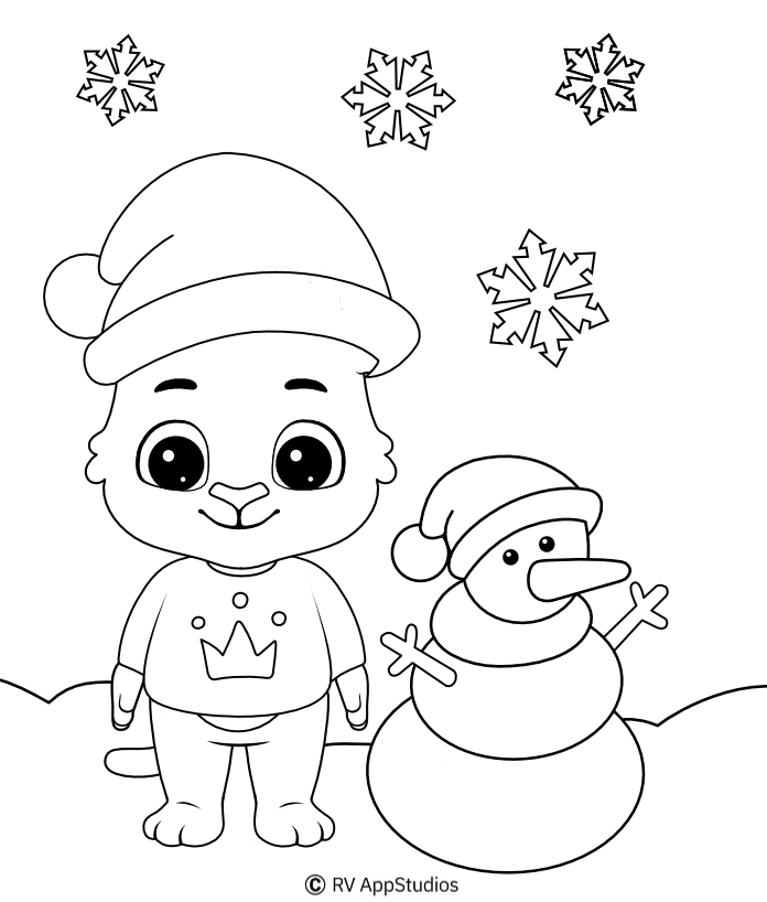 Christmas-4 Coloring Pages For Kids
