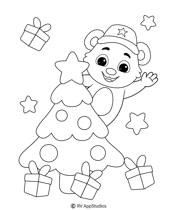 Printable Christmas-5 Coloring Pages