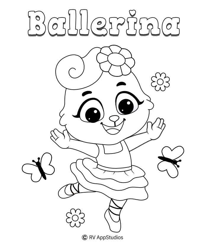 Printable Ballerina Coloring Pages
