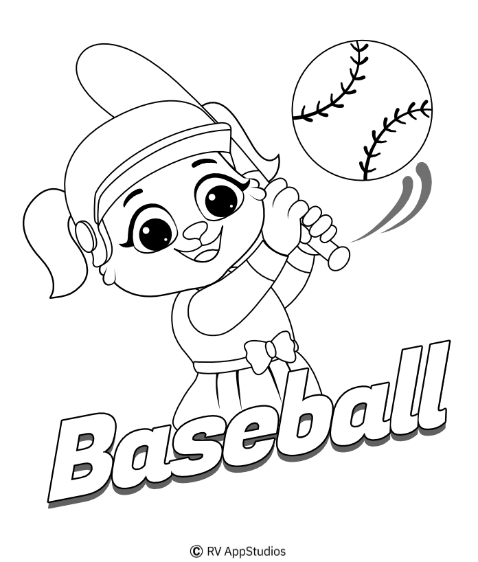Printable Baseball-1 Coloring Pages
