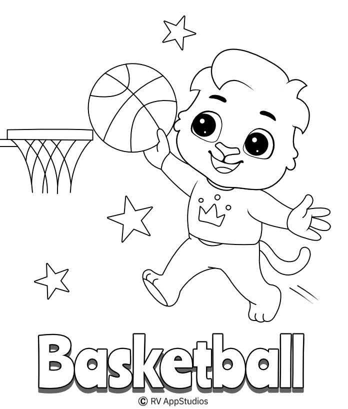 Basketball Coloring Pages For Kids | Free Printable