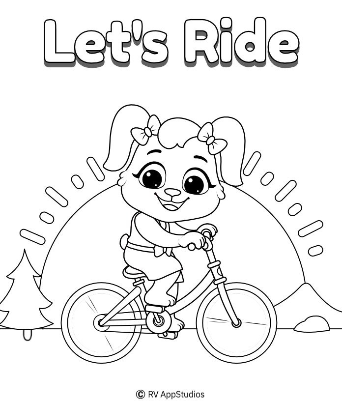 Bicycles Coloring Pages | Free Coloring Pages