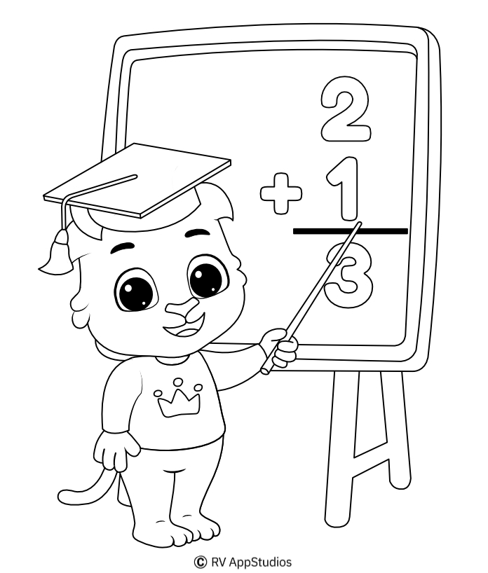 Printable Teacher-1 Coloring Pages