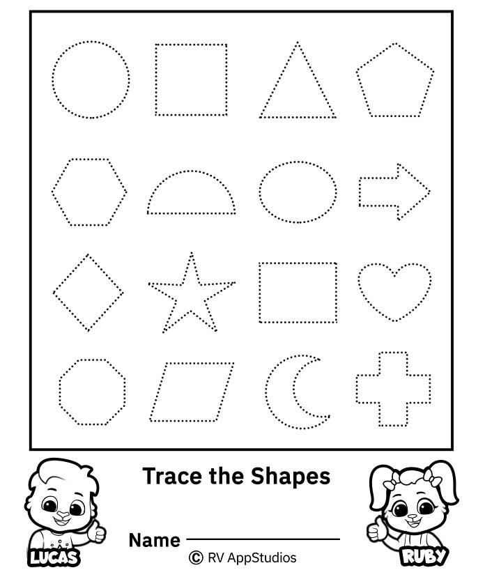 Shape Tracing Worksheets | Free Printable Worksheets