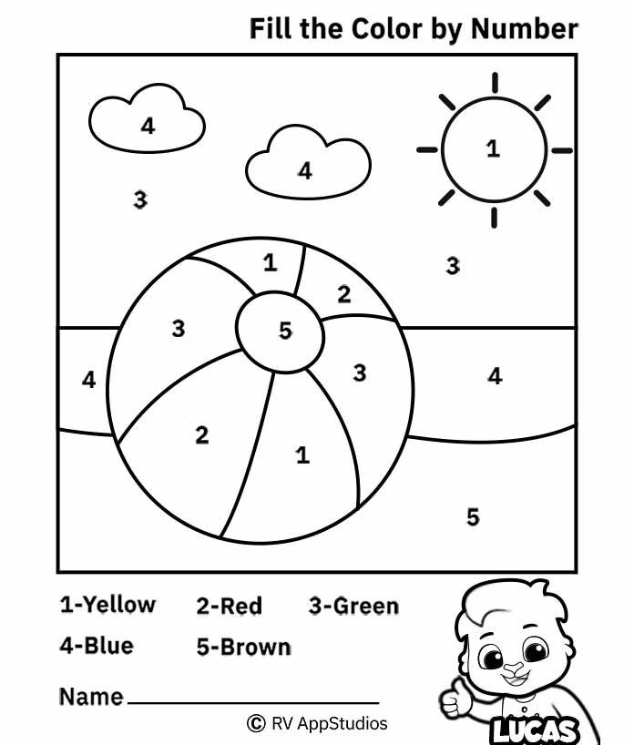 Free Printable Worksheets for Kids - Color by Number Worksheets