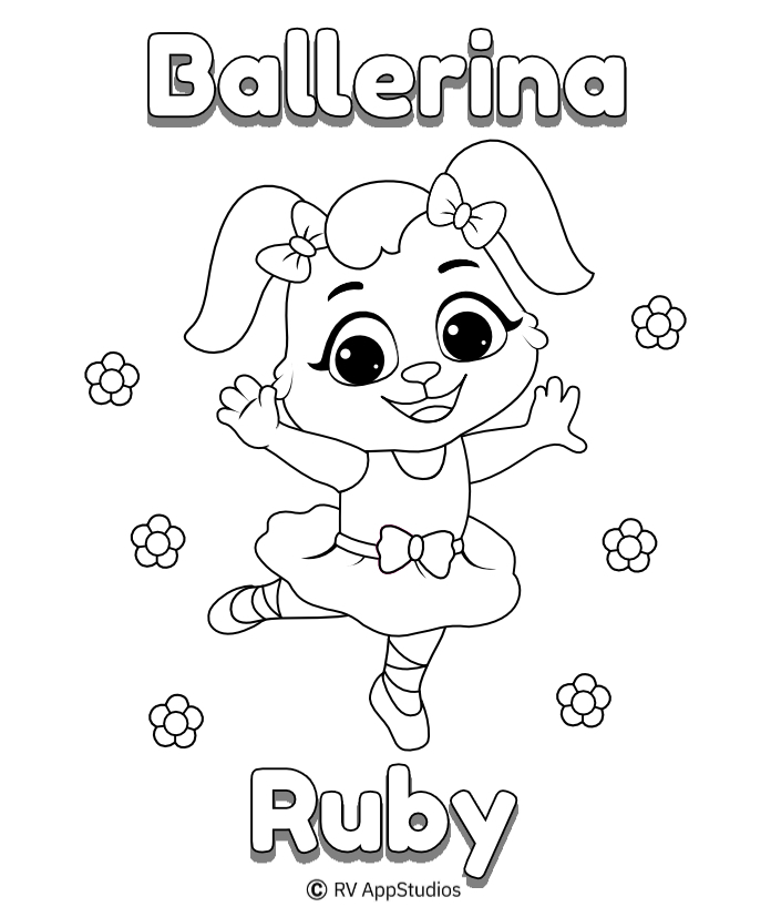 Printable Ballerina-Ruby Coloring Pages