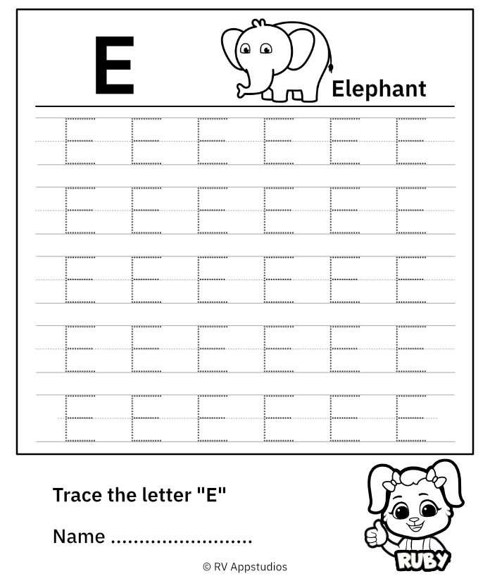 Uppercase Letter E
