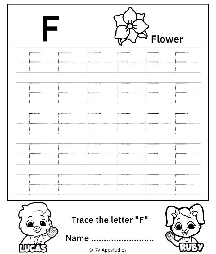 Uppercase Letter F