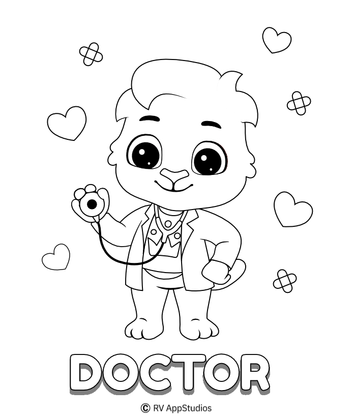 Printable Doctor-Lucas Coloring Pages