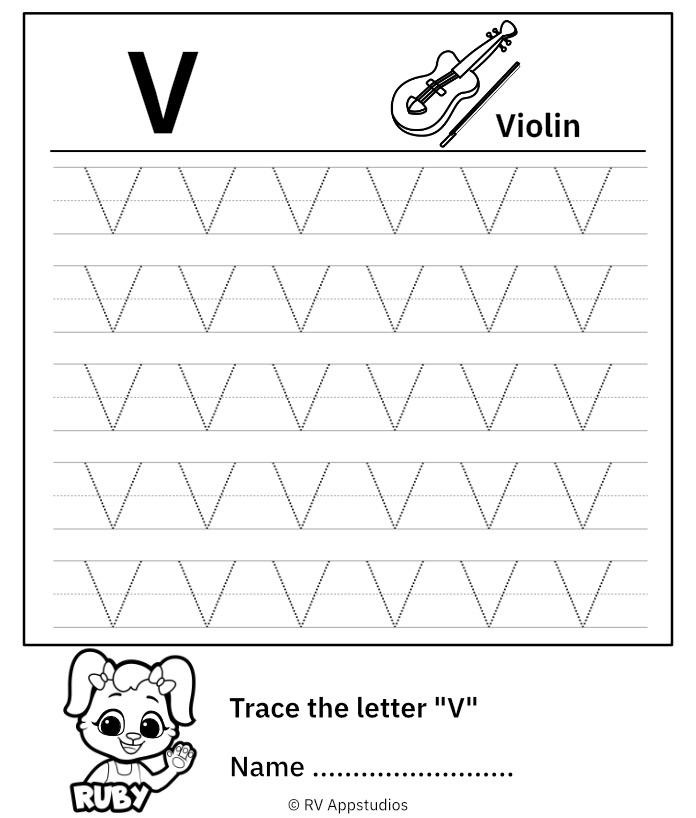 Uppercase Letter V