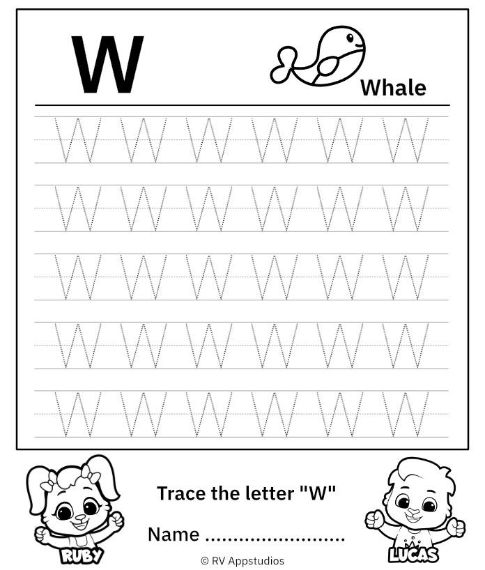 Uppercase Letter W