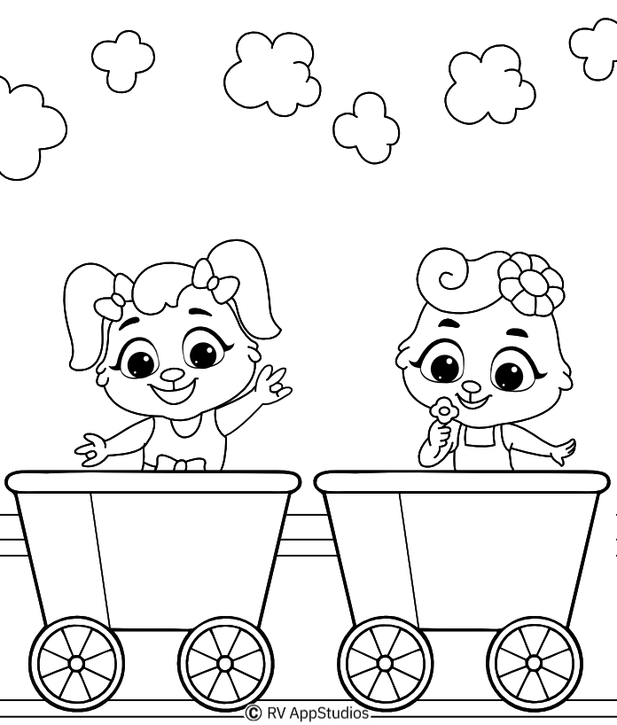 Printable Train Track Coloring Pages