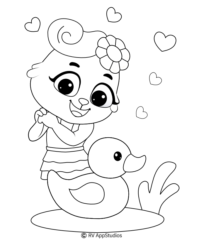 Duck Coloring Pages For Kids