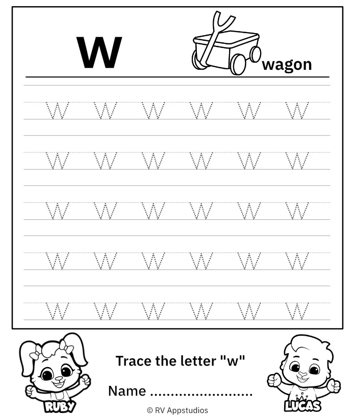 Lowercase Letter w