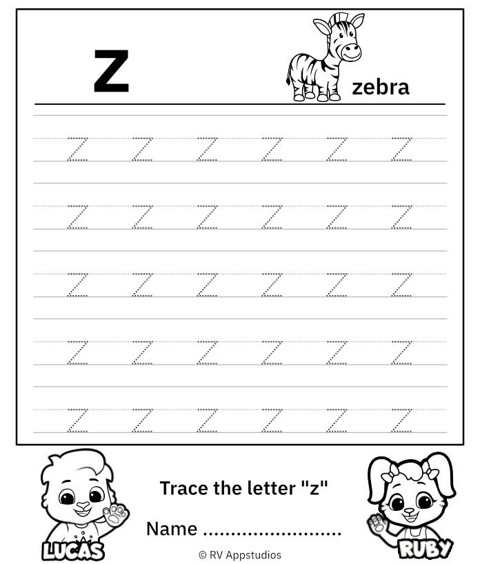 Lowercase Letter z