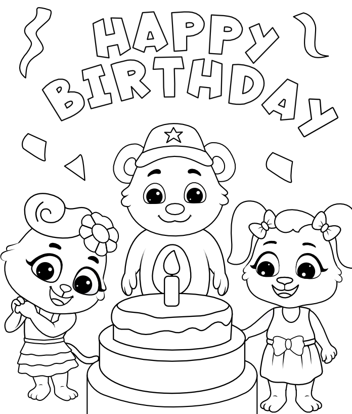 Free Printable Birthday Fun Coloring Pages