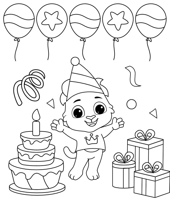 Free Printable BirthdayGifts Coloring Pages