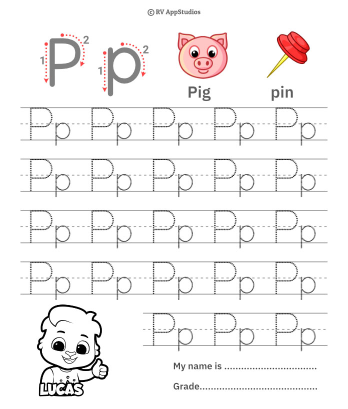 Trace Alphabet Letter Pp Worksheets