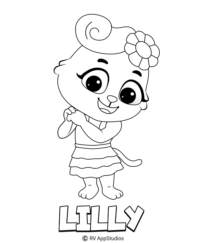 Printable Lilly Coloring Pages