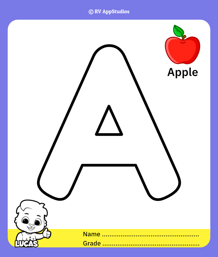 Coloring Page for Letter A