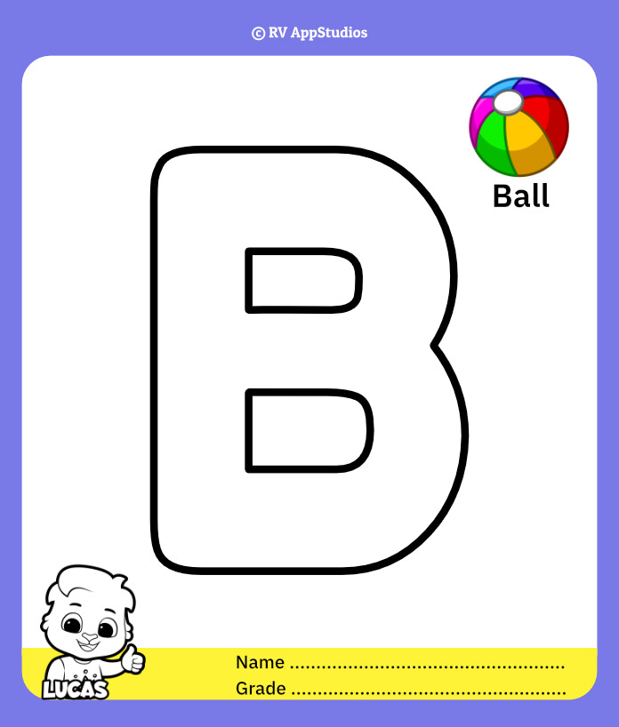 Coloring Page for Letter B