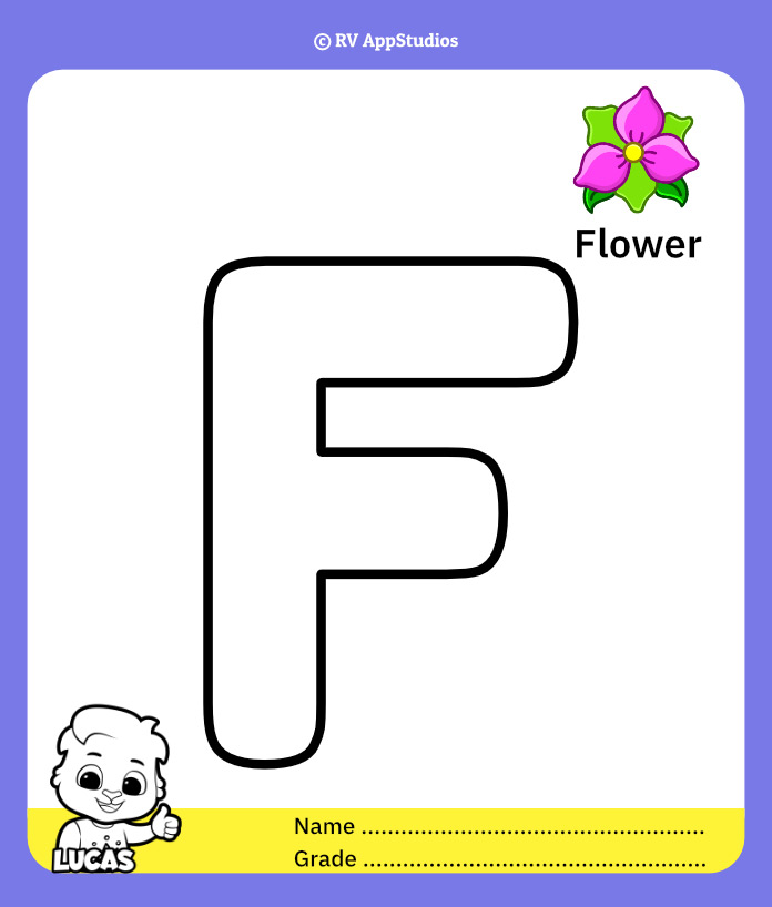 Coloring Page for Letter F