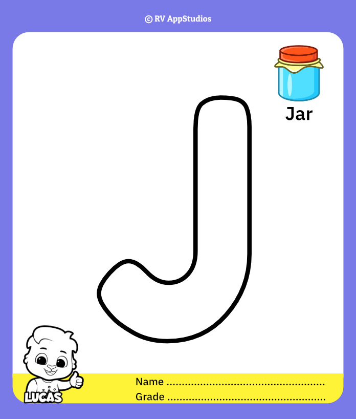 Coloring Page for Letter J