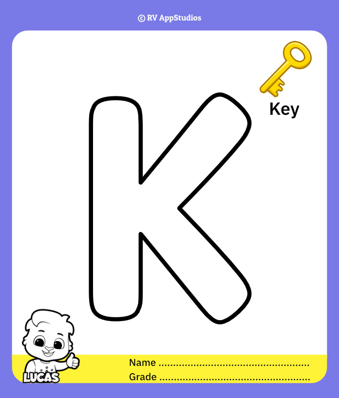 Coloring Page for Letter K