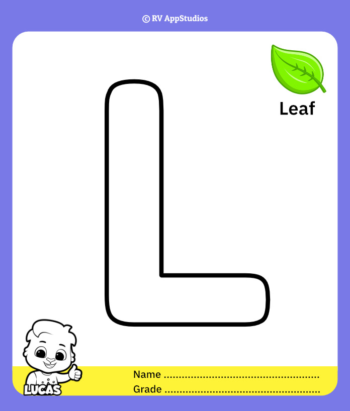 Coloring Page for Letter L