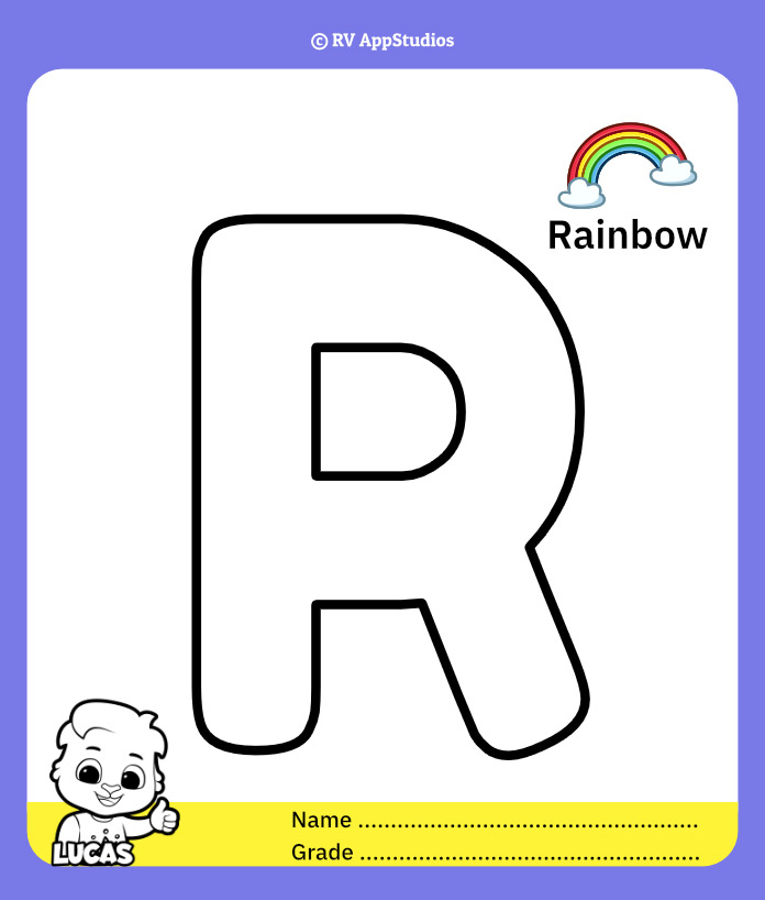 Coloring Page for Letter R
