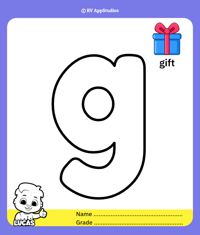 Coloring Pages for Alphabet g