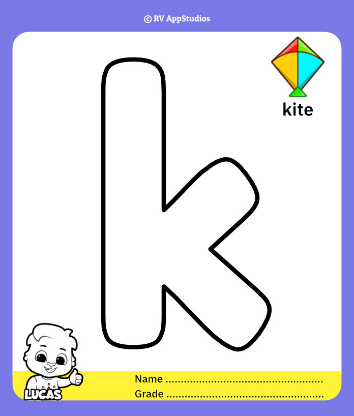 Coloring Pages for Alphabet k