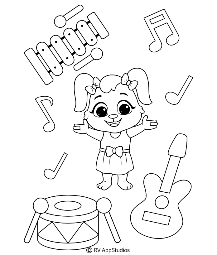 Printable Instruments Coloring Pages
