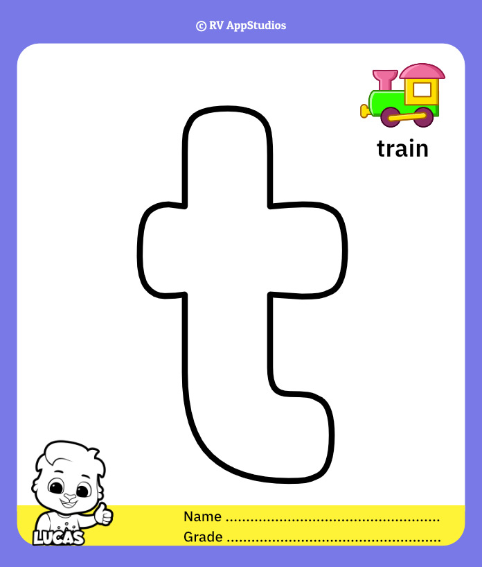 Coloring Pages for Alphabet t