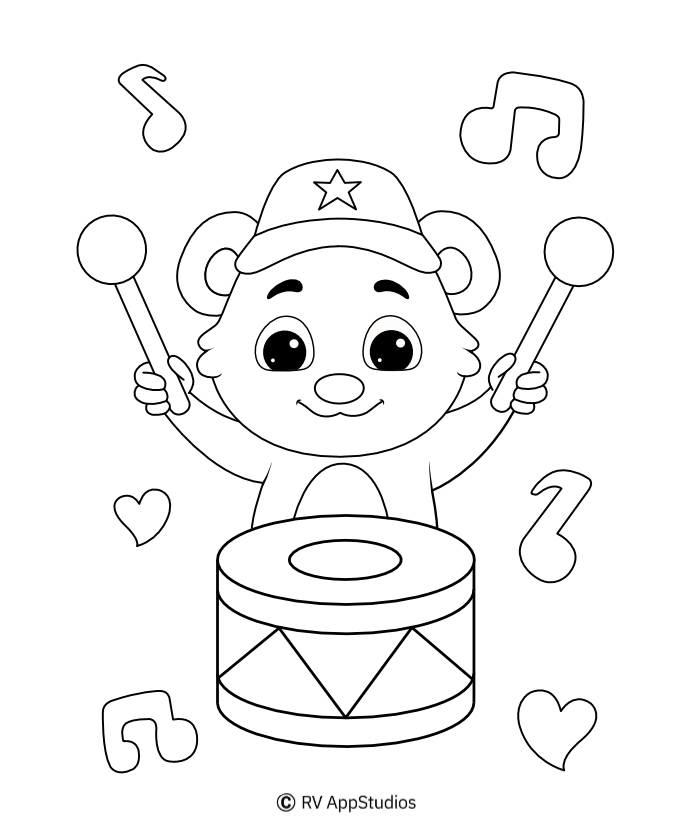 Drum Coloring Page | Free Printable Coloring Pages
